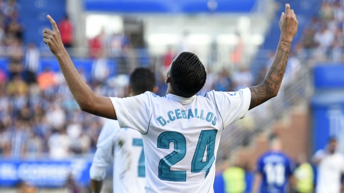 Ceballos celebra el 0-1. (AFP)