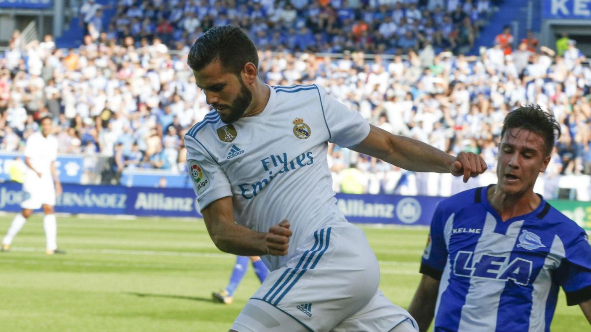 Nacho, durante el Alavés-Real Madrid. (EFE)
