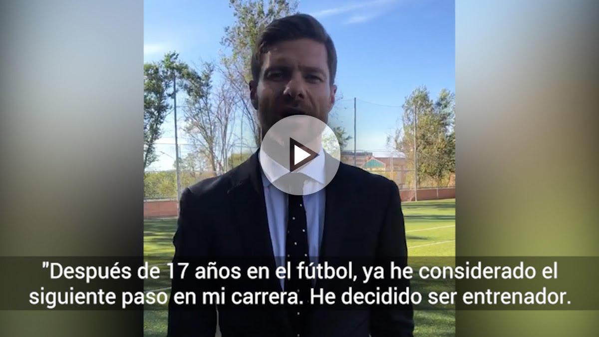 Xabi Alonso anuncia su decisión.