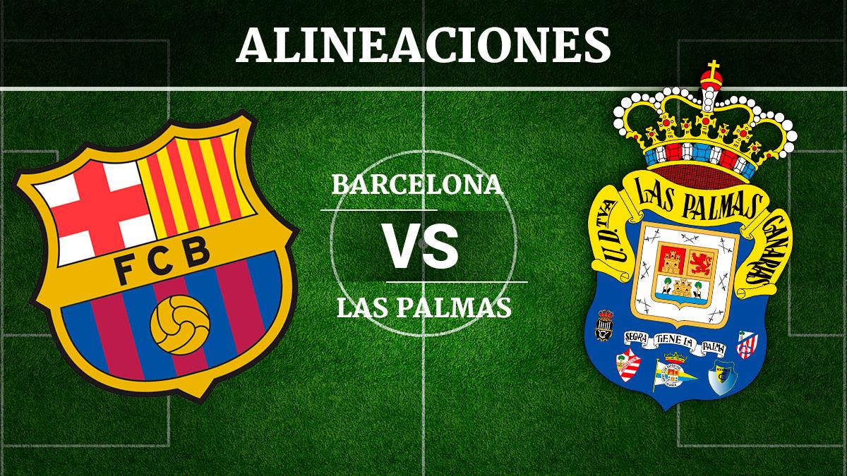 Consulta las posibles alineaciones del Barcelona vs Las Palmas.