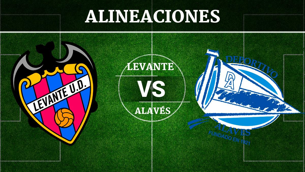 Consulta las posibles alineaciones del Levante vs Alavés.