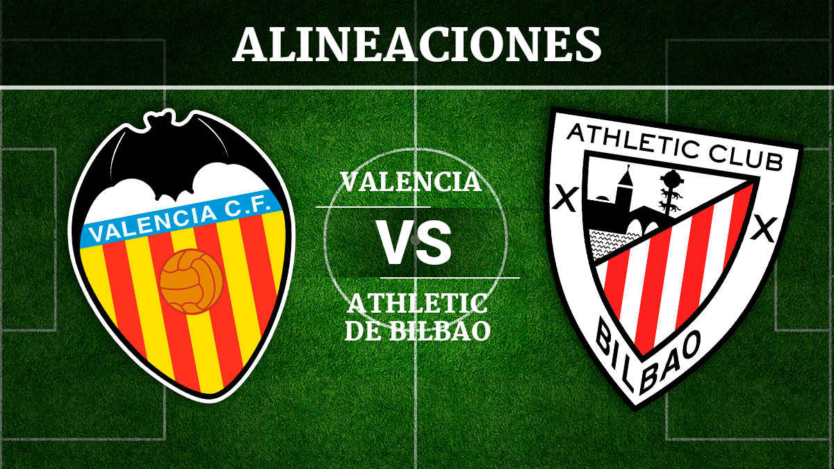 Consulta las posibles alineaciones del Valencia vs Athletic de Bilbao.
