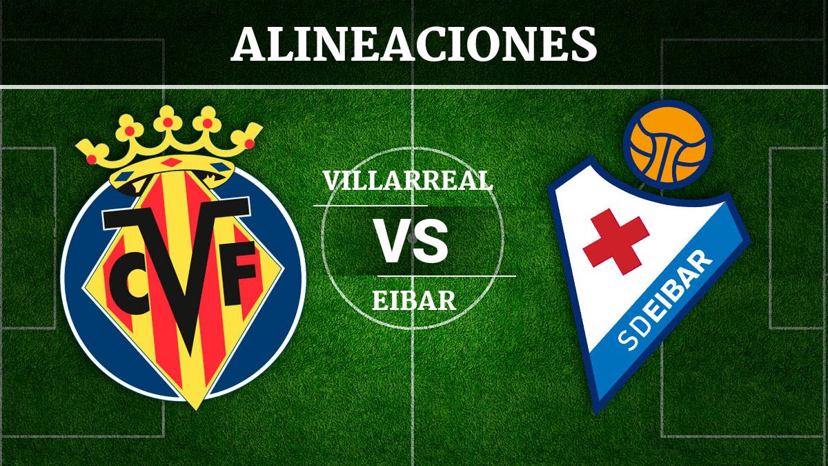 Consulta las posibles alineaciones del Villarreal vs Éibar.