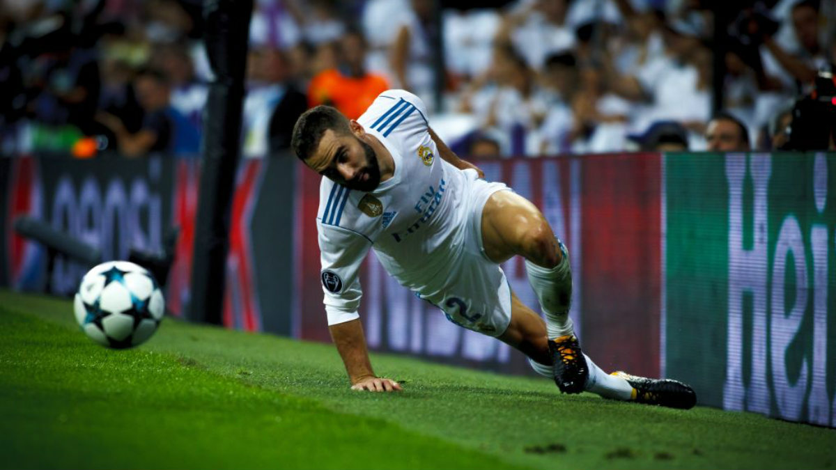 Dani Carvajal durante el Real Madrid-APOEL (Getty).