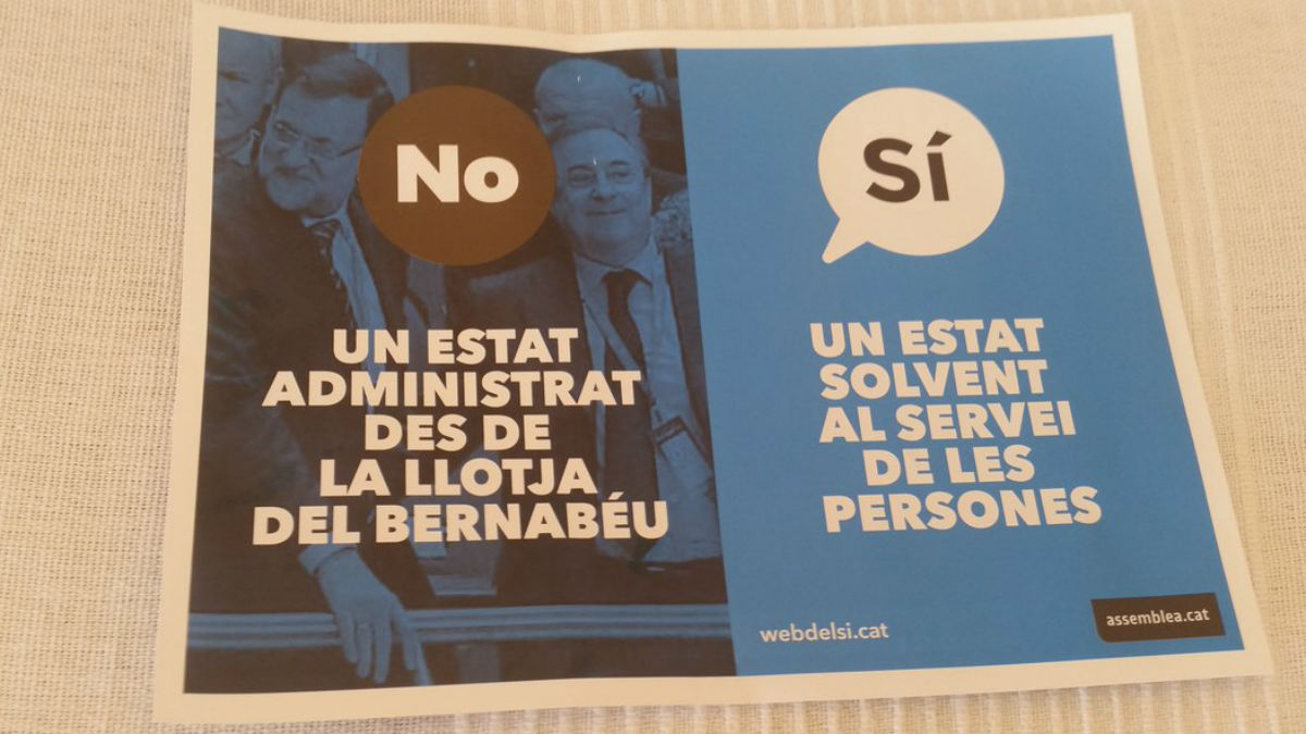 Florentino Pérez aparece en panfletos a favor de la independencia.