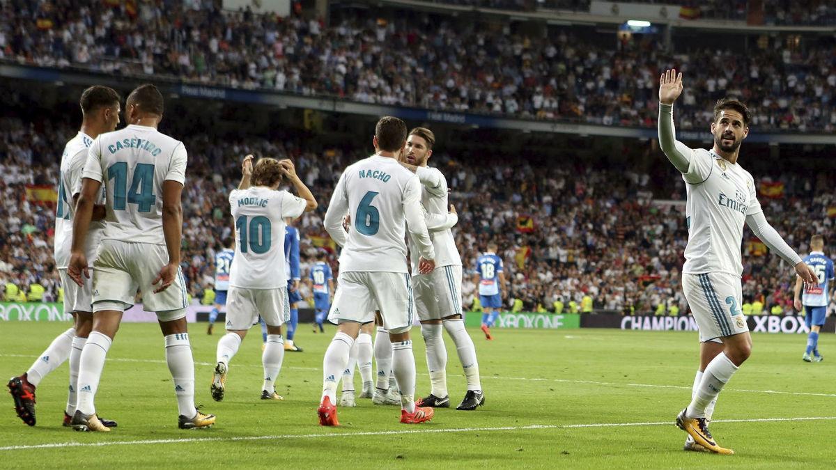 Isco celebra el 1-0 del Real Madrid. (EFE)