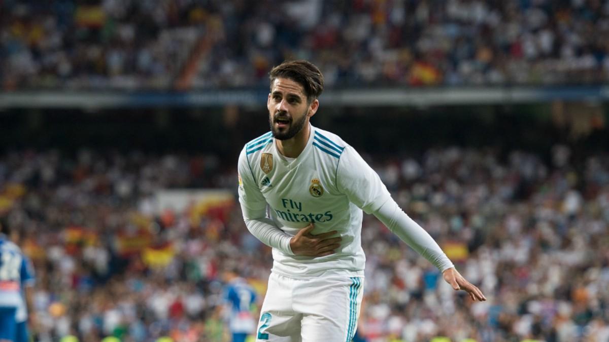 Isco celebra su gol frente al Espanyol. (Getty)