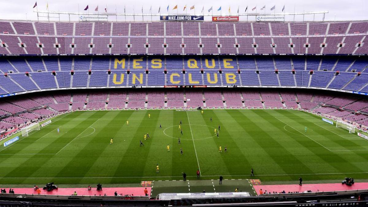 El Camp Nou, vacío en el encuentro ante la UD Las Palmas (GettyImages).