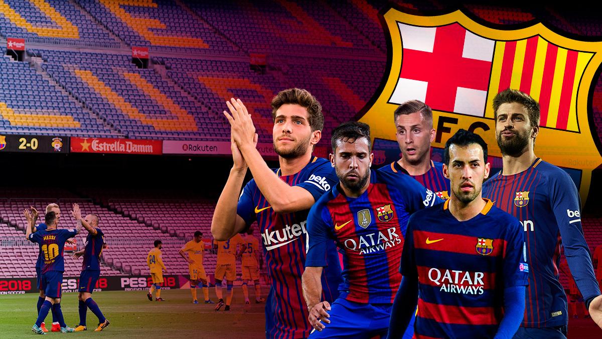 El Barça tendría un equipo repleto de extranjeros en una hipotética liga catalana.