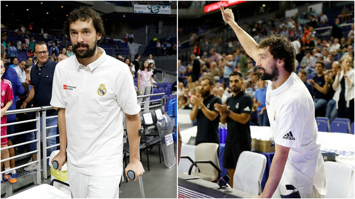 Llull, en su regreso al Palacio de los Deportes. (ACB)