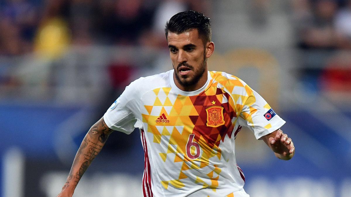 Dani Ceballos lideró el triunfo de España en Eslovaquia. (AFP)