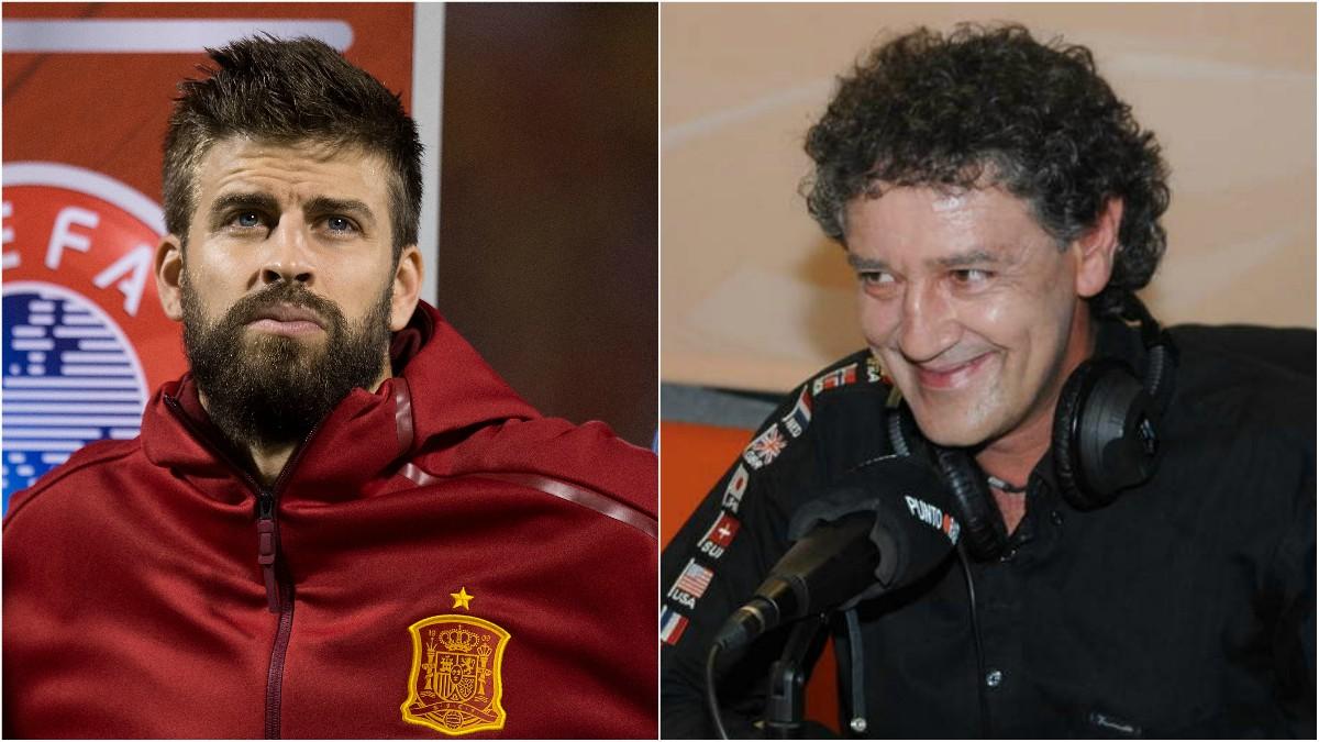 Gerard Piqué y Rafa Guerrero.