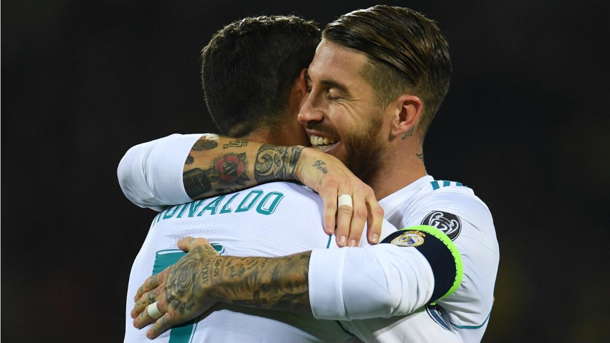 Sergio Ramos y Cristiano son los encargados de tirar los penaltis en el Madrid. (AFP)