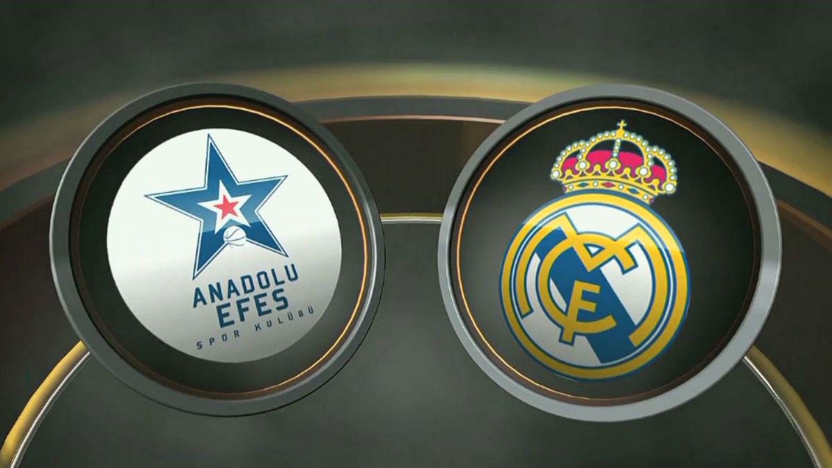 Anadolu Efes Vs Real Madrid de baloncesto.