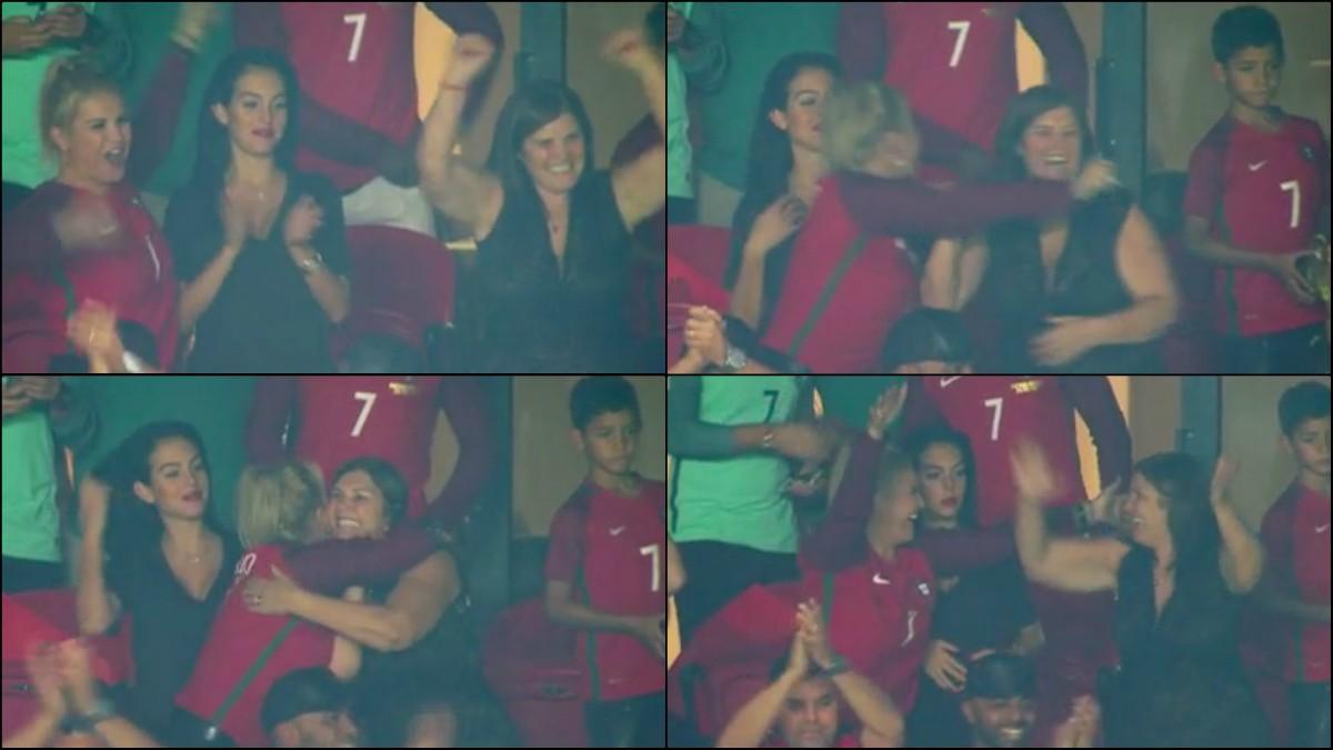 Así festejó la familia de Cristiano el pase de Portugal al Mundial.