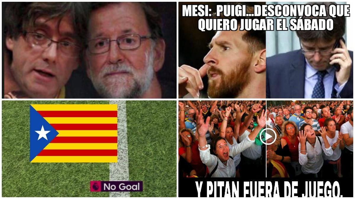 Los mejores memes futboleros de la independencia de Cataluña