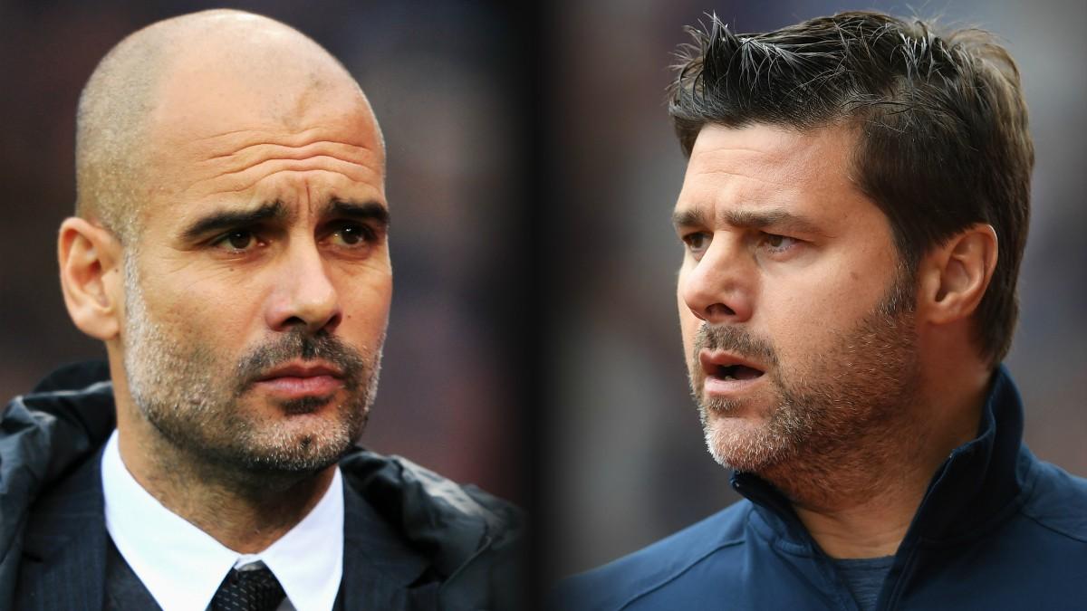 Pochettino y Guardiola. (Getty)