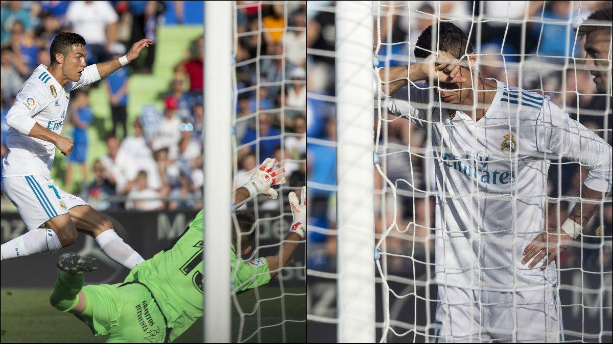 Cristiano falló un gol clamoroso en Getafe.