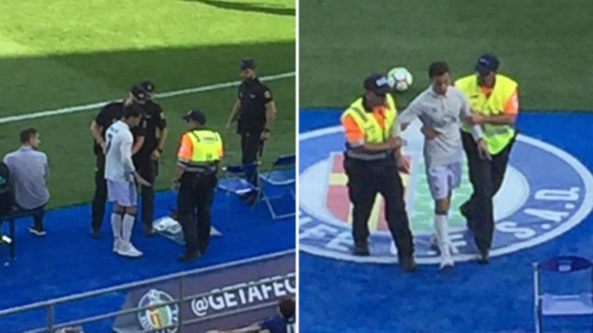 El espontáneo que saltó vestido de Cristiano Ronaldo.