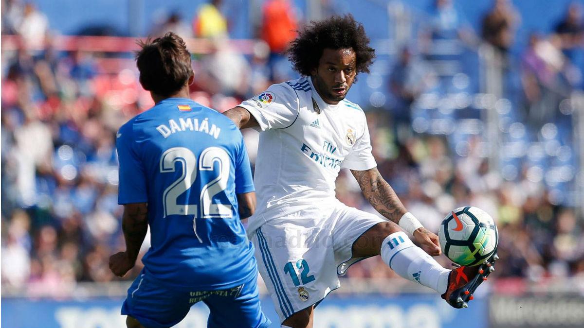 Marcelo durante el Getafe-Real Madrid. (Realmadrid.com)