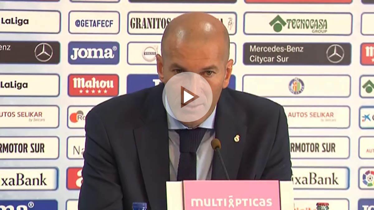 Zidane, en la rueda de prensa posterior al partido.