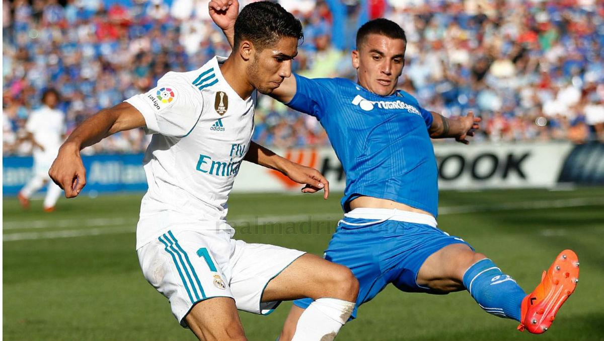 Achraf durante el Getafe-Real Madrid. (Realmadrid.com)