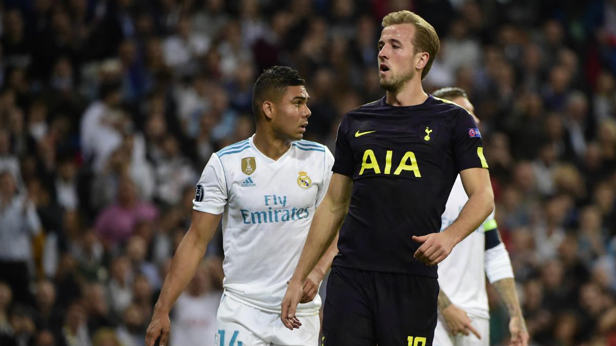 Harry Kane fue el mejor del Tottenham en el Bernabéu. (AFP)