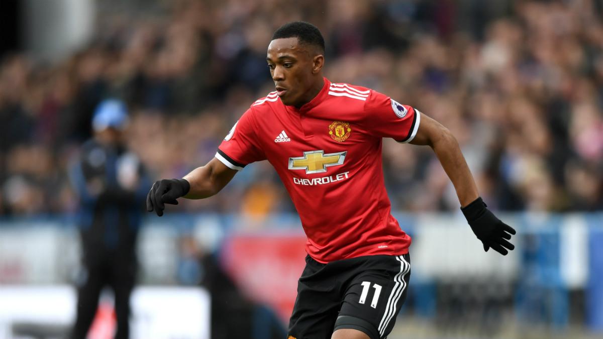 Martial durante un partido con el Manchester United. (Getty)