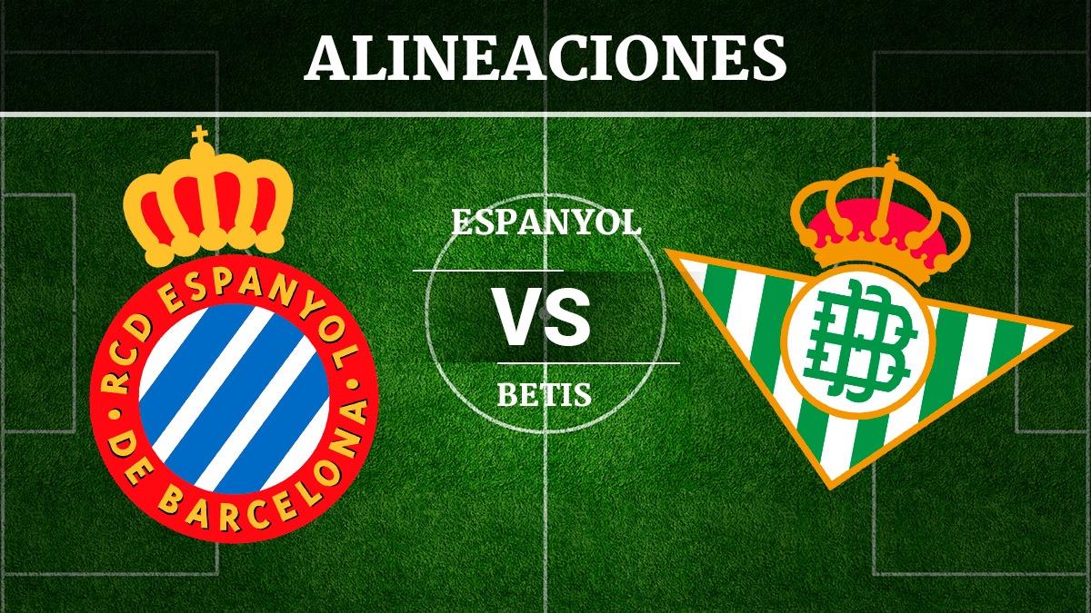 Consulta las posibles alineaciones del Espanyol vs Betis.