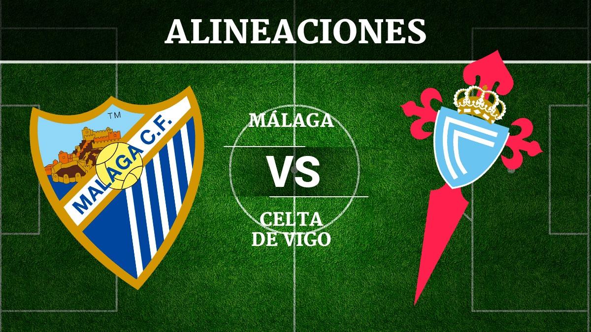 Consulta las posibles alineaciones del Málaga vs Celta de Vigo.
