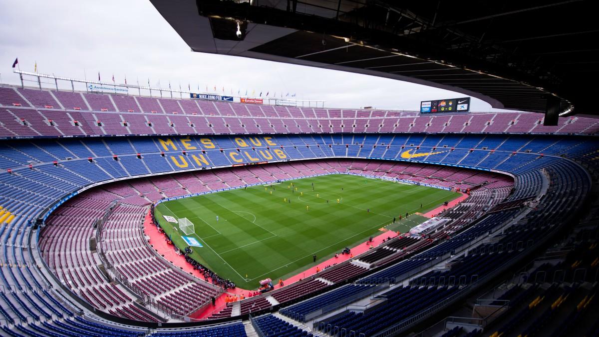 El Camp Nou, antes del Barcelona vs Las Palmas. (Getty)