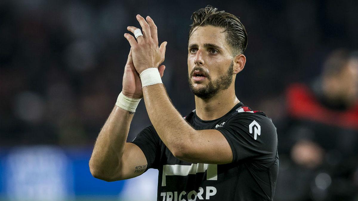 Fran Sol, en un partido con el Willem II.