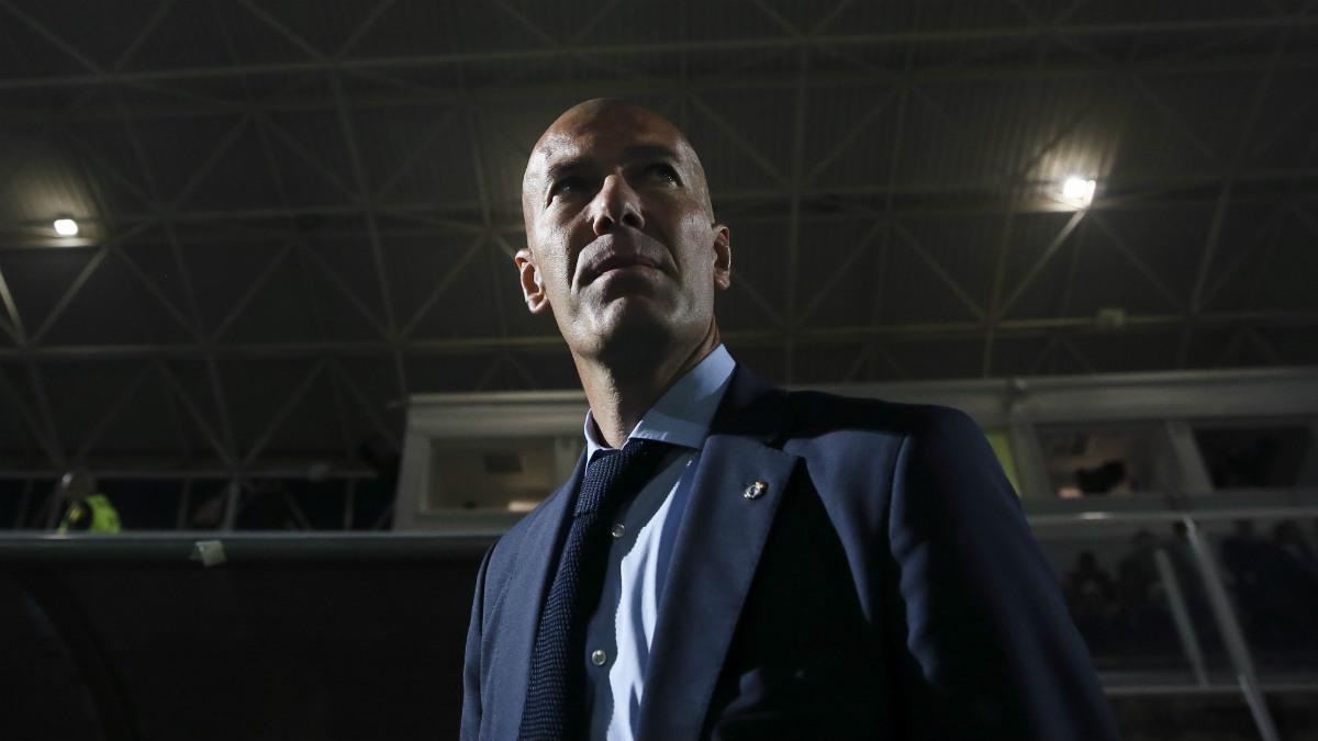 Zinedine Zidane durante un partido de esta temporada. (EFE)