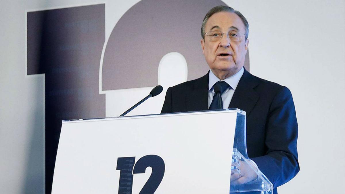 Florentino Pérez, en la presentación del libro de La Duodécima.