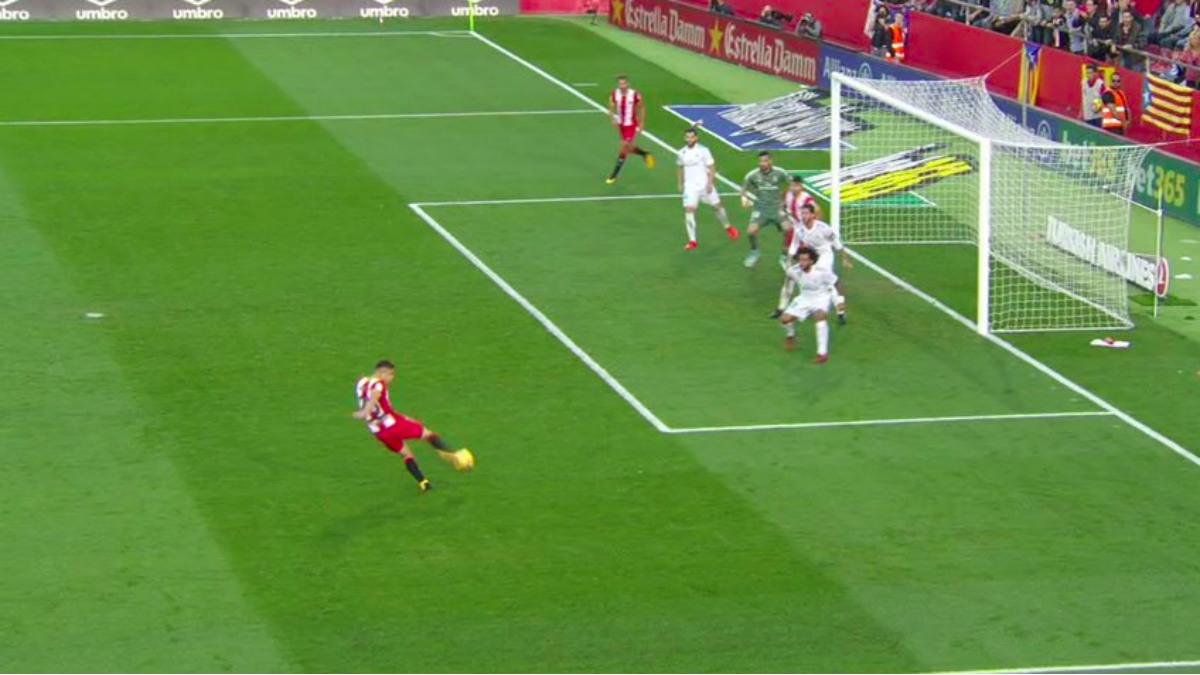 Portu estaba en claro fuera de juego en el segundo gol del Girona