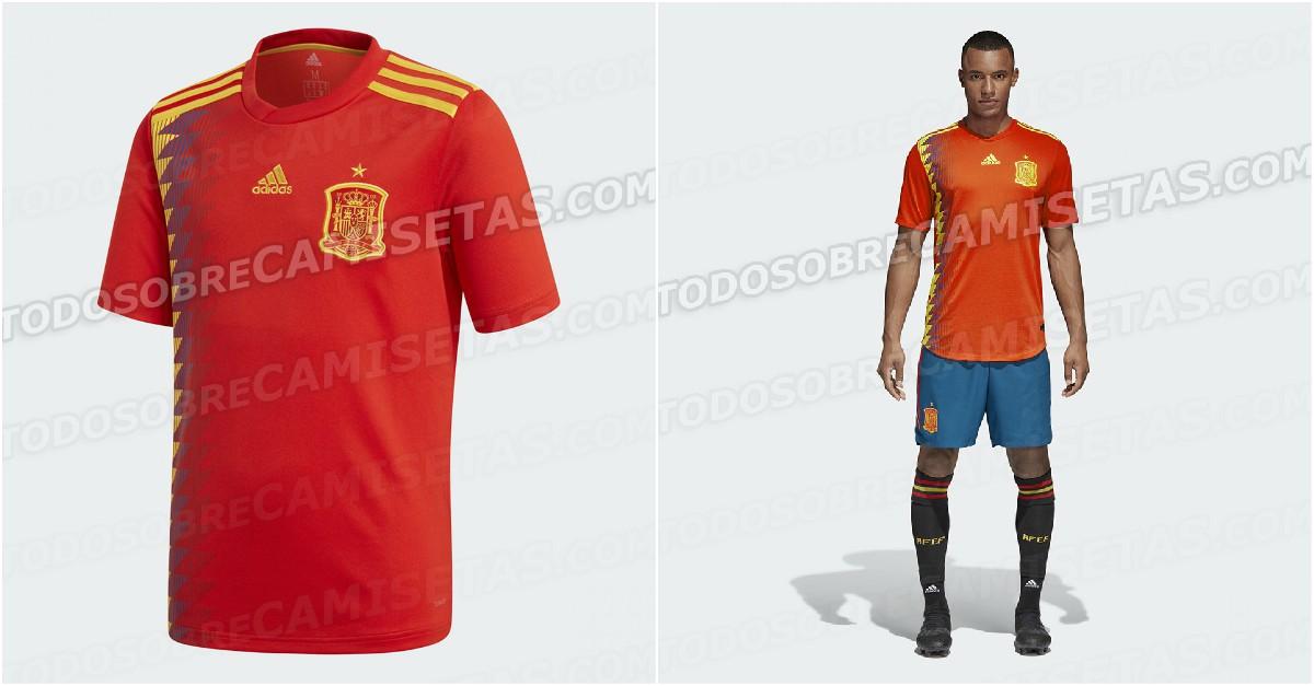 Diseño filtrado de la camiseta de España.