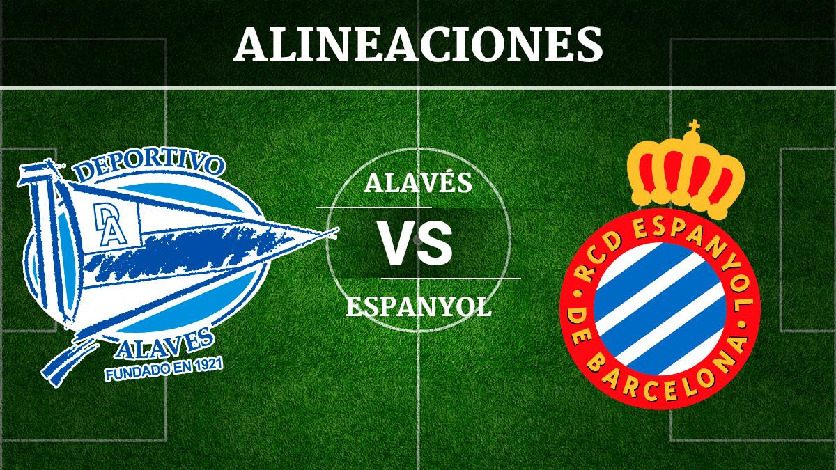 Consulta las posibles alineaciones del Alavés vs Espanyol.