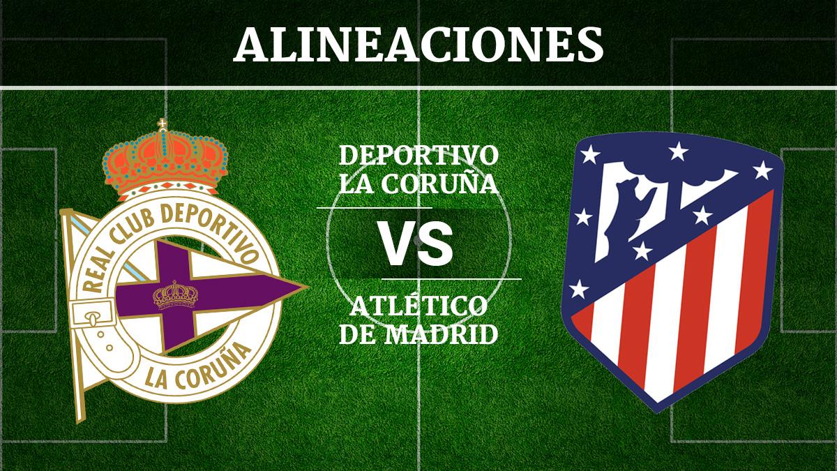 Consulta las posibles alineaciones del Deportivo de la Coruña vs Atlético de Madrid.