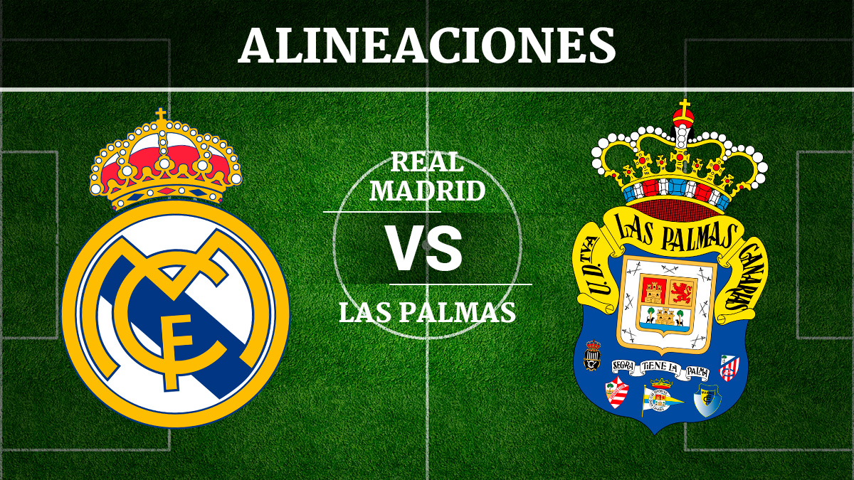 Consulta las posibles alineaciones del Real Madrid vs Las Palmas.