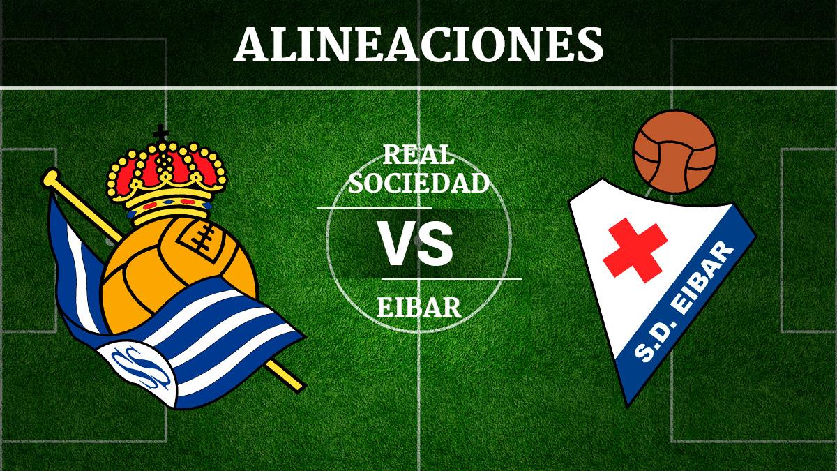 Consulta las posibles alineaciones del Real Sociedad vs Éibar.