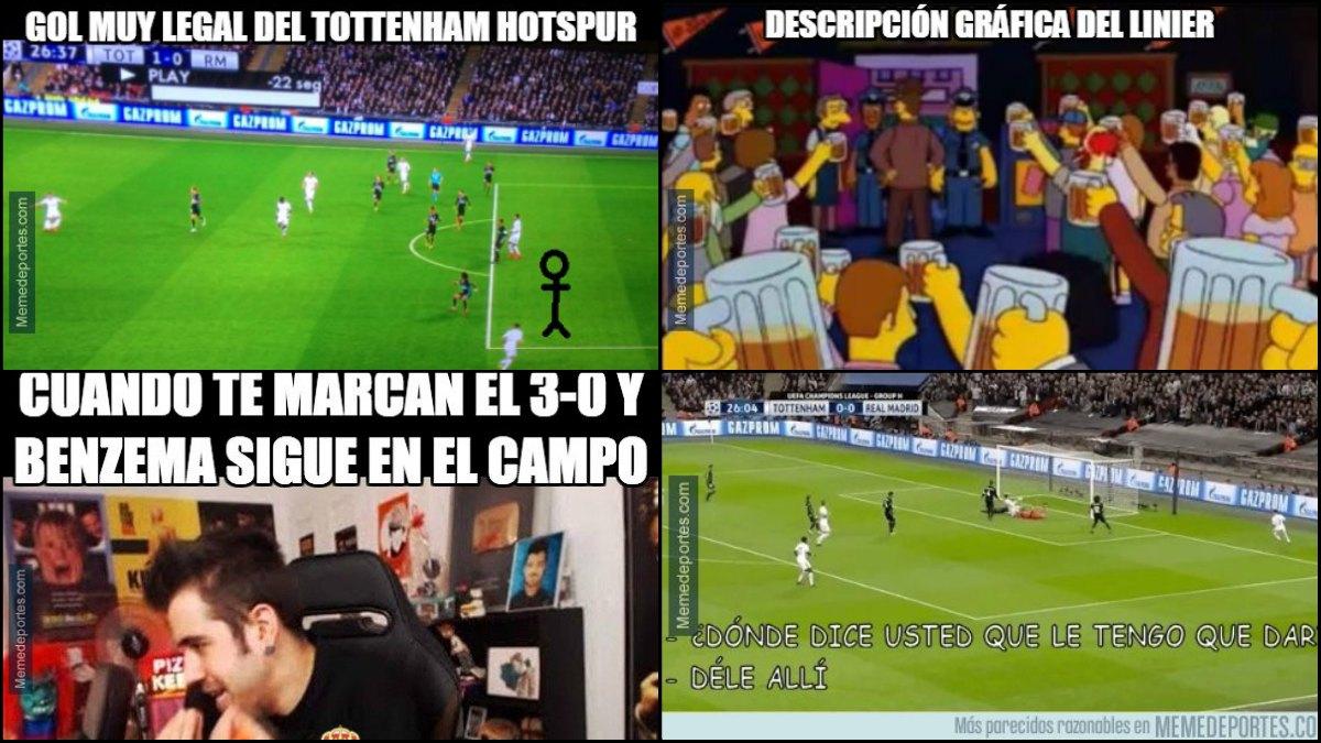 Los mejores memes del Tottenham-Real Madrid.