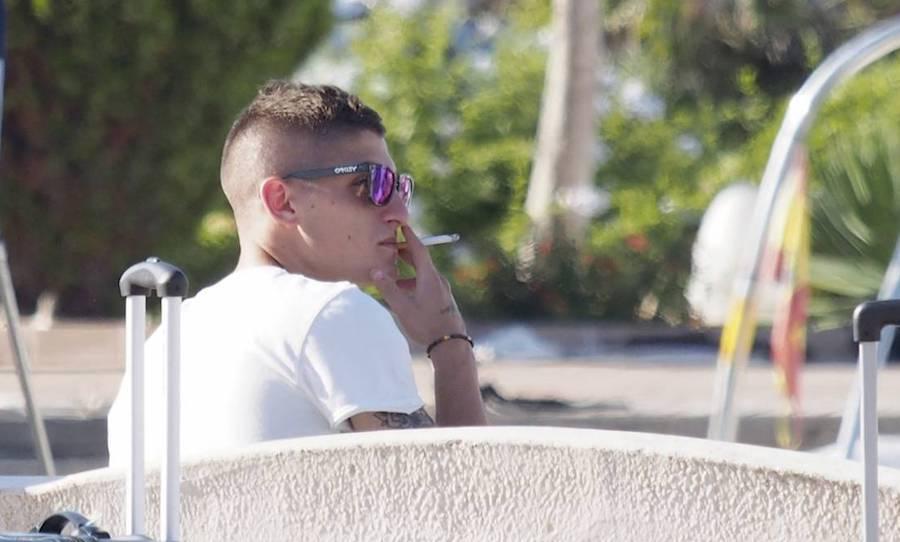 Marco Verratti, pillado fumando el pasado verano en Ibiza.