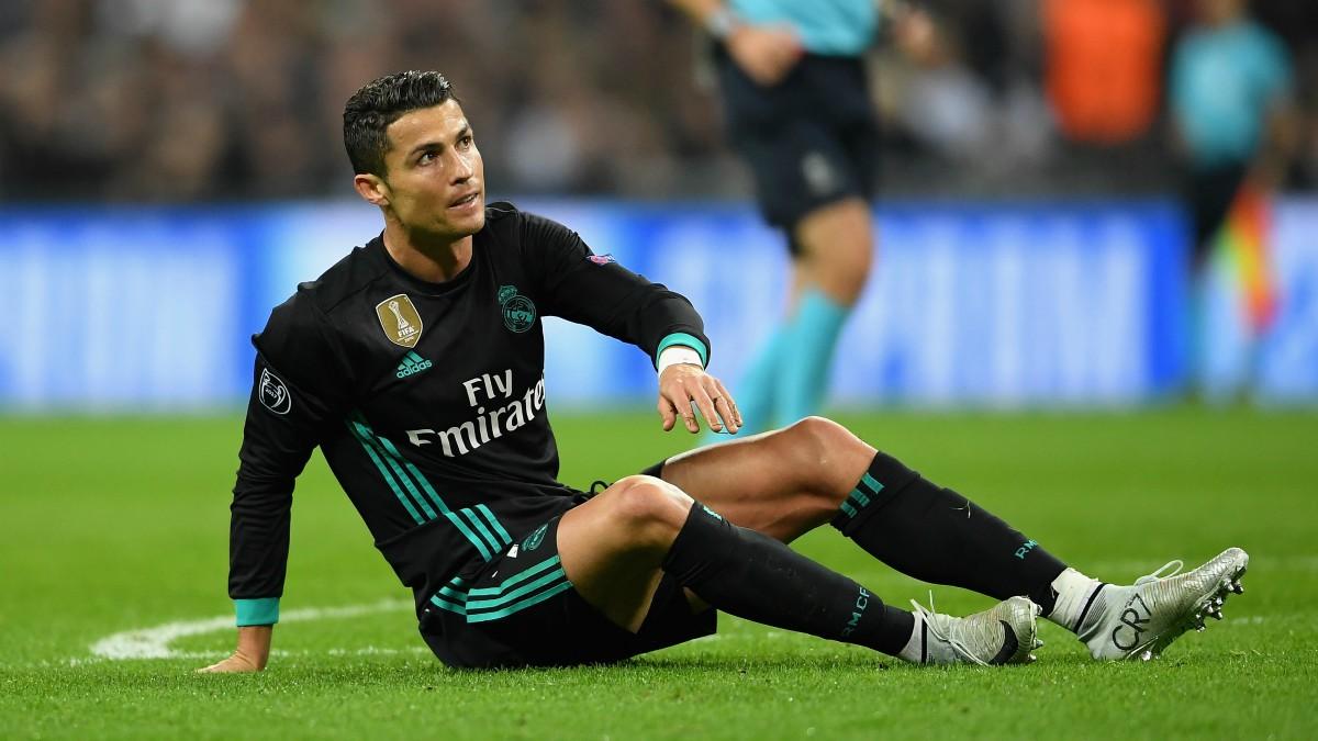 Cristiano se lamenta en el Tottenham vs Real Madrid. (Getty)
