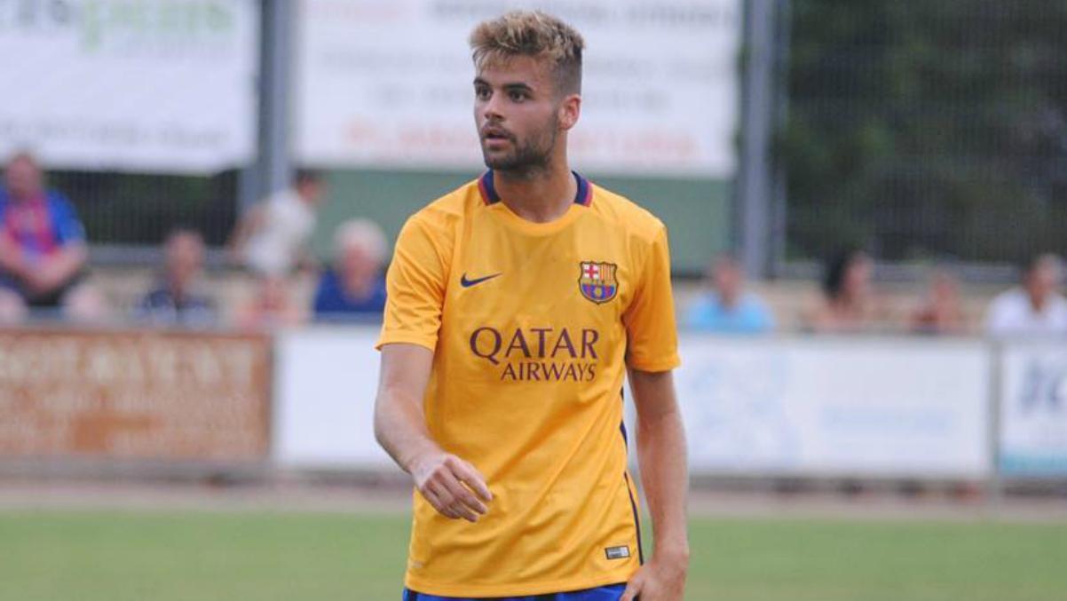 Adriá Vilanova, hijo del fallecido Tito, durante su etapa en el Barcelona. (Instagram)