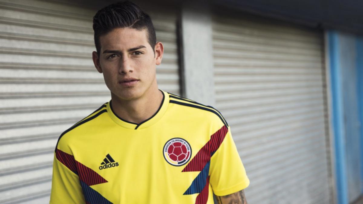 Así vestirá James Rodríguez en el Mundial de Rusia.