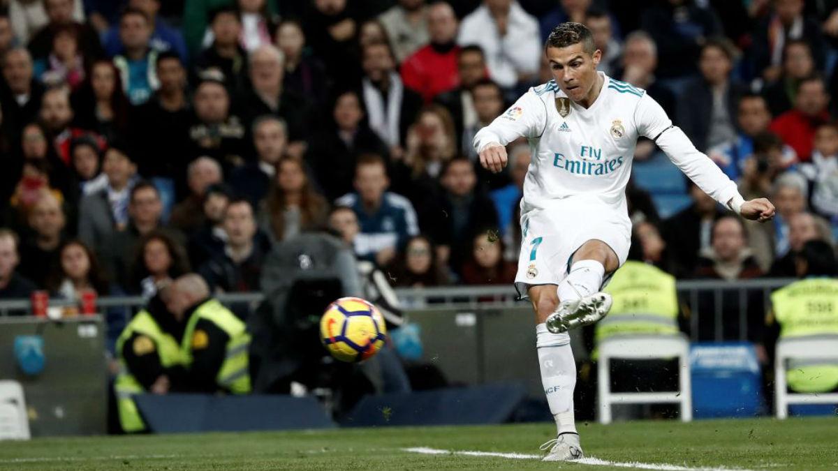 Cristiano Ronaldo, en una acción, ante Las Palmas (Getty).