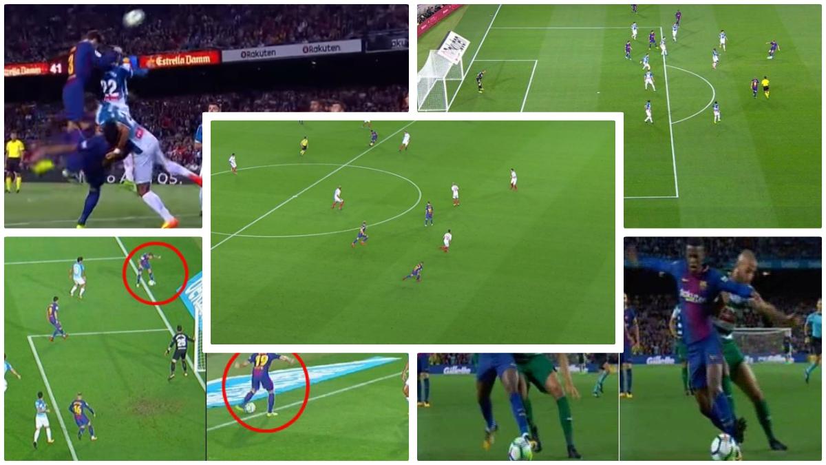Algunos de los goles ilegales del Barcelona esta temporada.