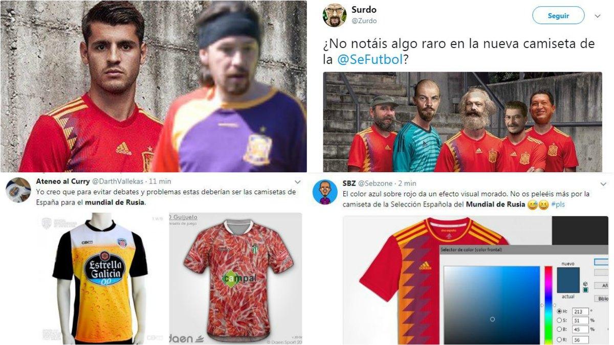 Estos son los mejores memes de la polémica camiseta de España para Rusia.