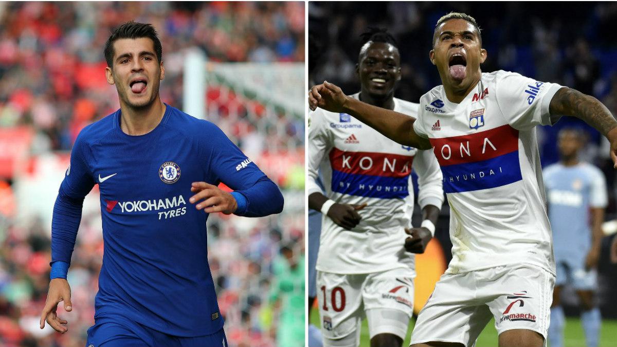 Morata y Mariano están triunfando en Londres y Lyon. (Getty / AFP)