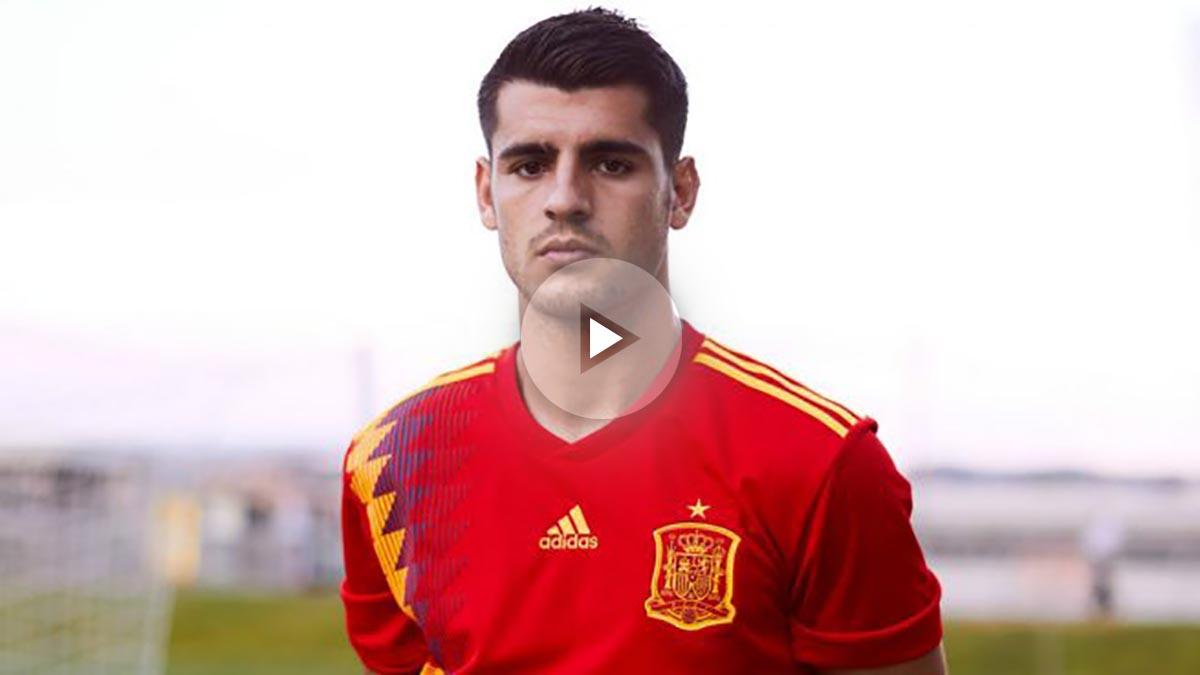Así es la nueva camiseta 'republicana' de España para el Mundial de Rusia. (sefutbol)